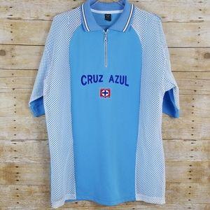 Men's CRUZ AZUL Football Club Polo/Jersey   NWOT